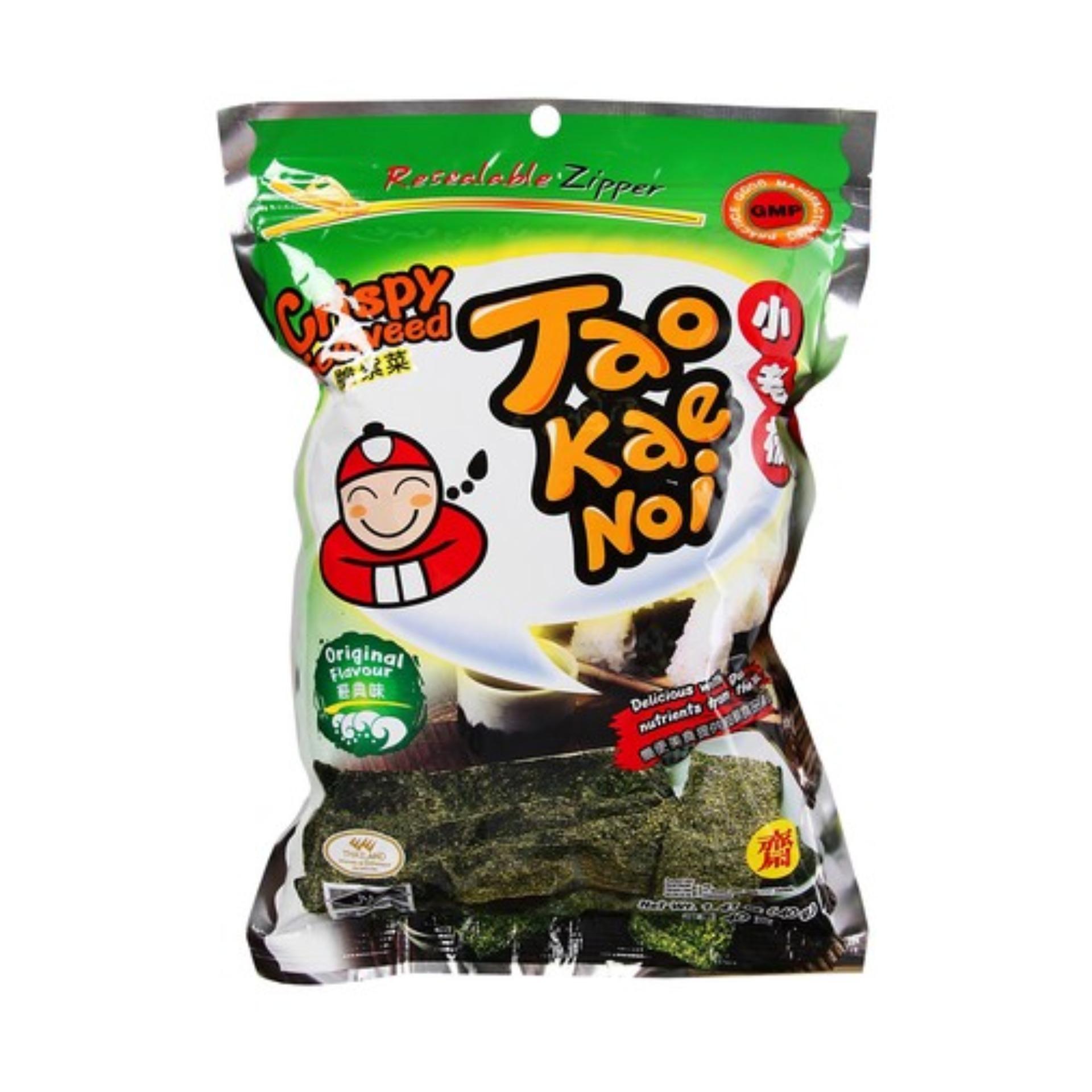 Snack Rong biển Taokaenoi Sấy Crispy Seaweed vị Truyền thống 15g