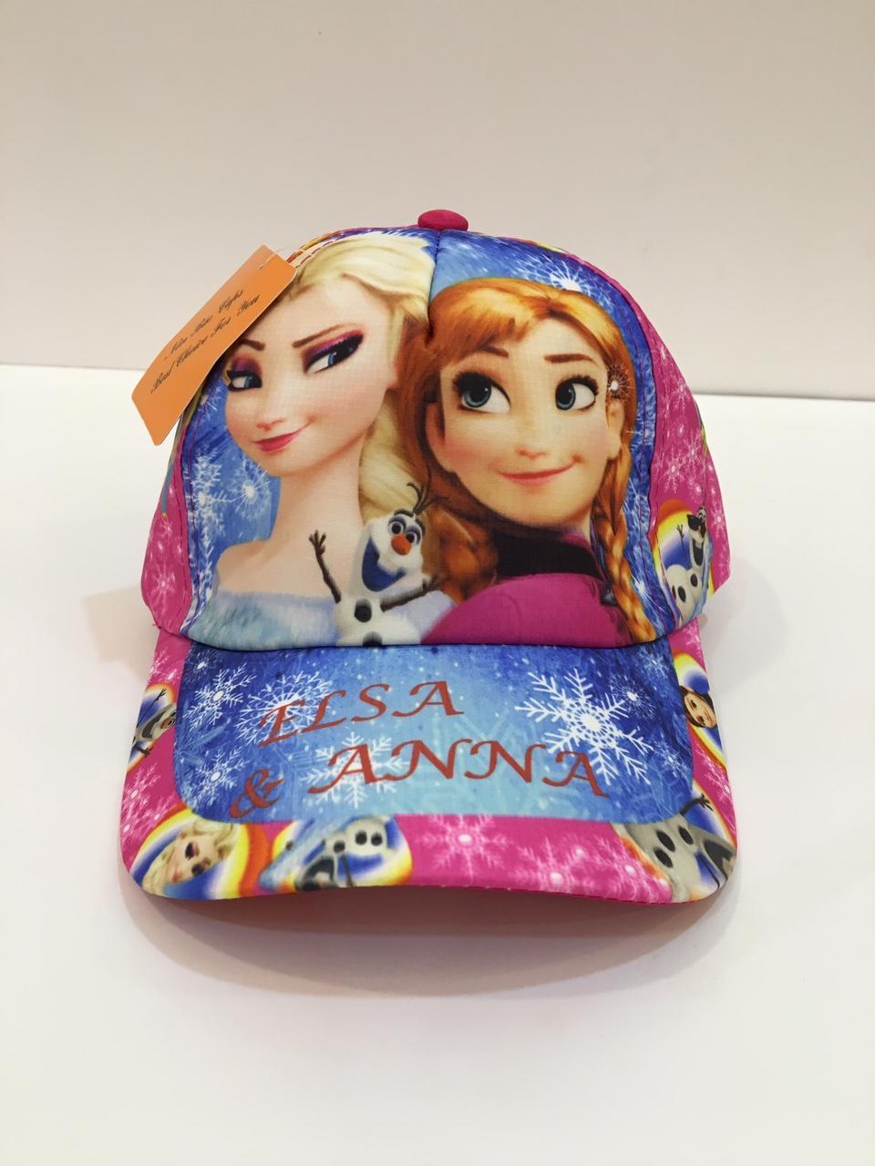Mũ – Nón lưỡi trai hình Elsa và Anna cho bé gái ( Hồng)