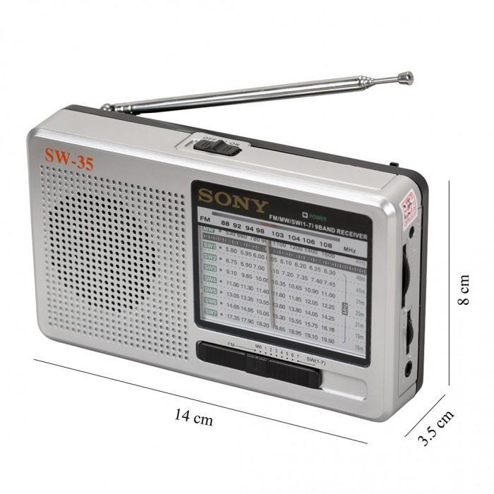 RADIO SONY SW35 - Trắng