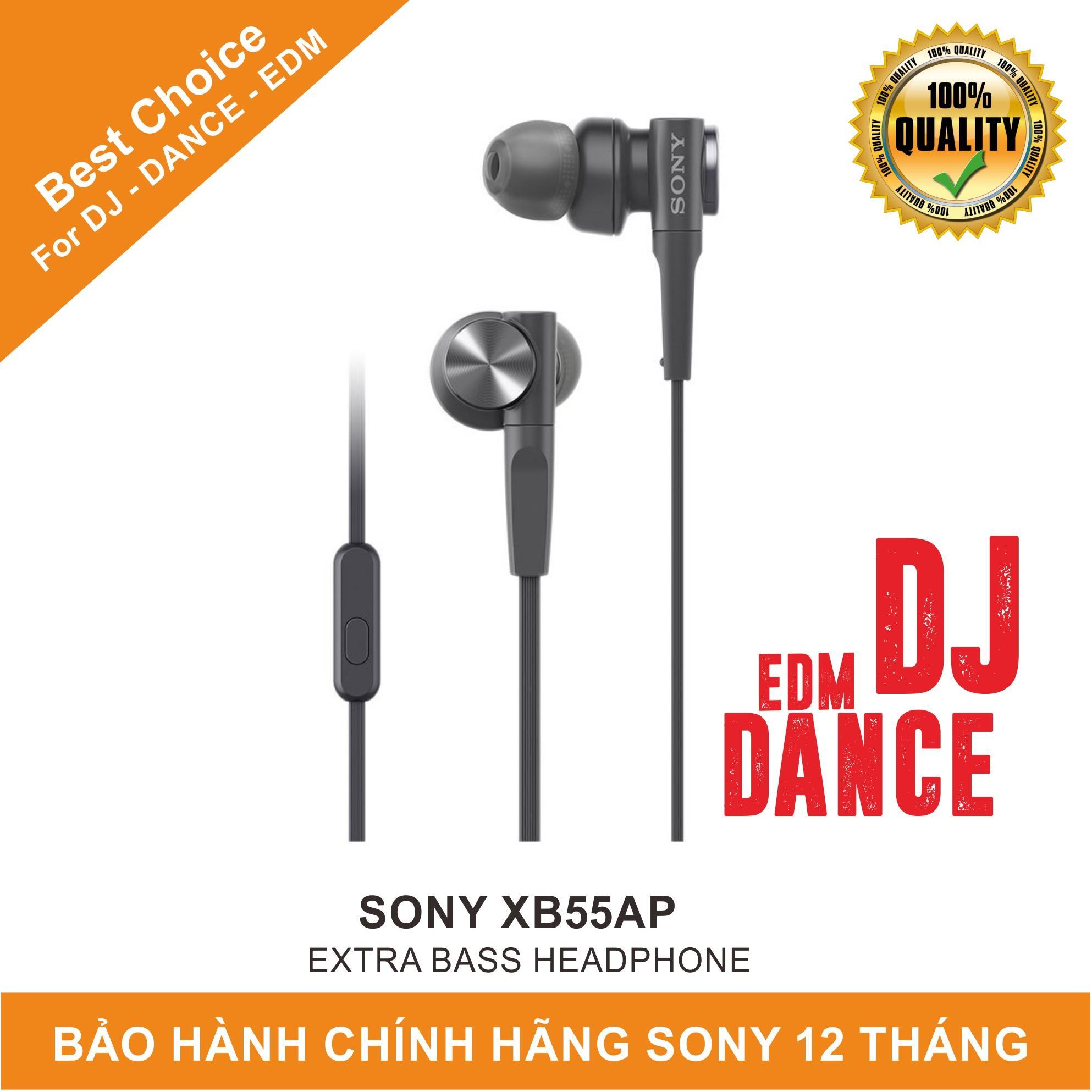 Tai nghe nhét tai In-ear Sony Extra Bass XB55AP - Hãng Phân Phối Chính Thức - Bảo hành 12 tháng tại tất cả các TTBH SONY toàn quốc