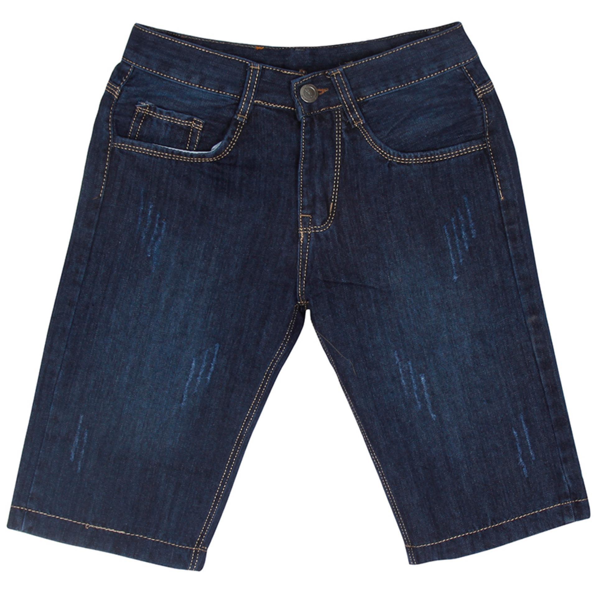 Quần Shorts Jeans Xước Nhẹ Nam Thời Trang Nam Phong MEN SHORTS 034V1