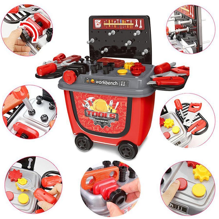 Bộ đồ chơi xe đẩy dụng cụ sửa chữa cho...