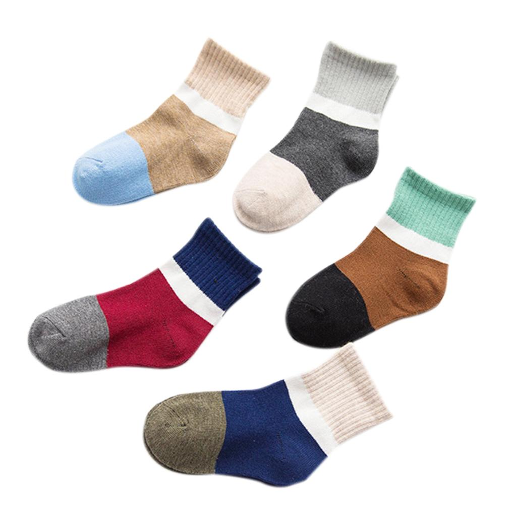 Big Sale 5 Pairs Baby Children Cute Cartoon Breathable Sweat Absorbent Cotton Socks Casual Anklet Socks