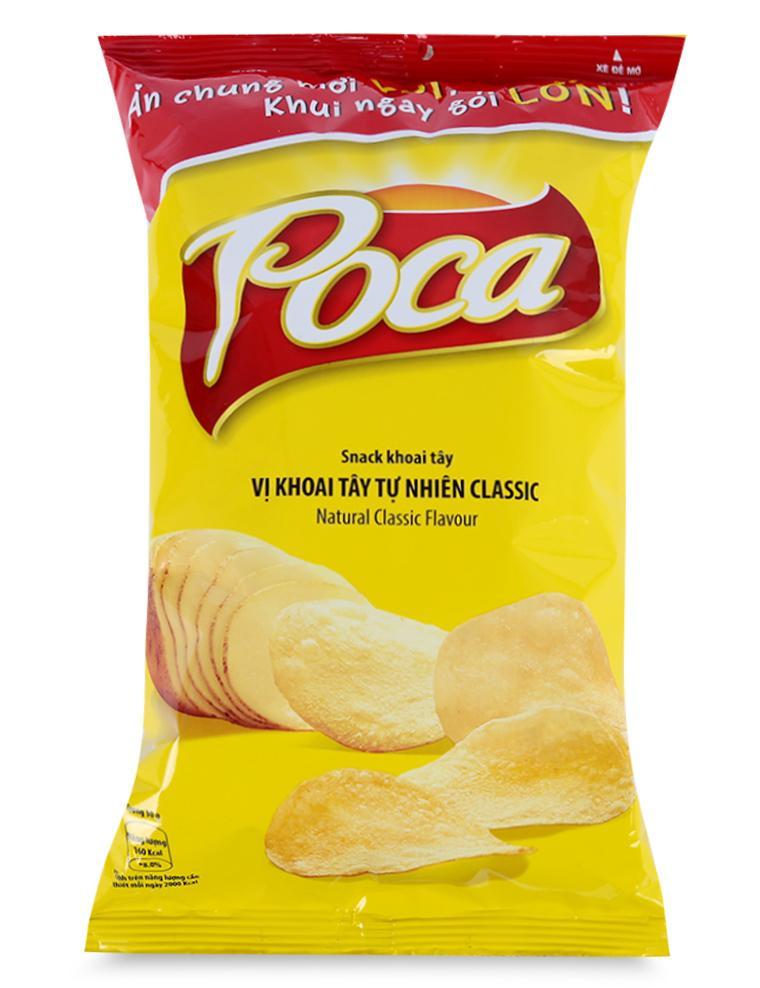 Snack Poca Vị Khoai Tây Tự Nhiên Classic Gói 100 G