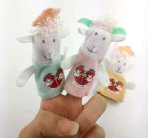 Hình ảnh 3pcs Animal Sheep Finger Puppet Plush Toys Baby Favor Cartoon Biological Child Baby Favor Doll Kids Gifts - intl