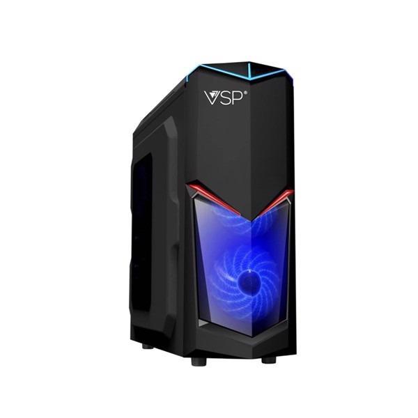 Case Máy Tính Vsp Game,server 3603, Nắp Hông Trong Suốt, Fan 12 Bóng Led