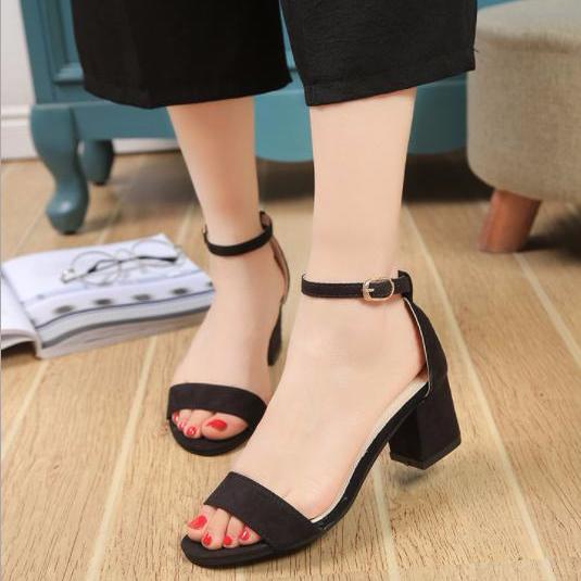 Dép khóa cao gót thời trang chân Hàn Quốc