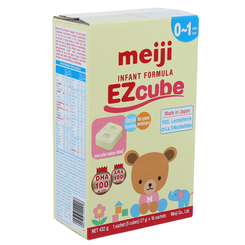 Sữa Meiji dạng Thanh EZcube 432g (0-1 tuổi)