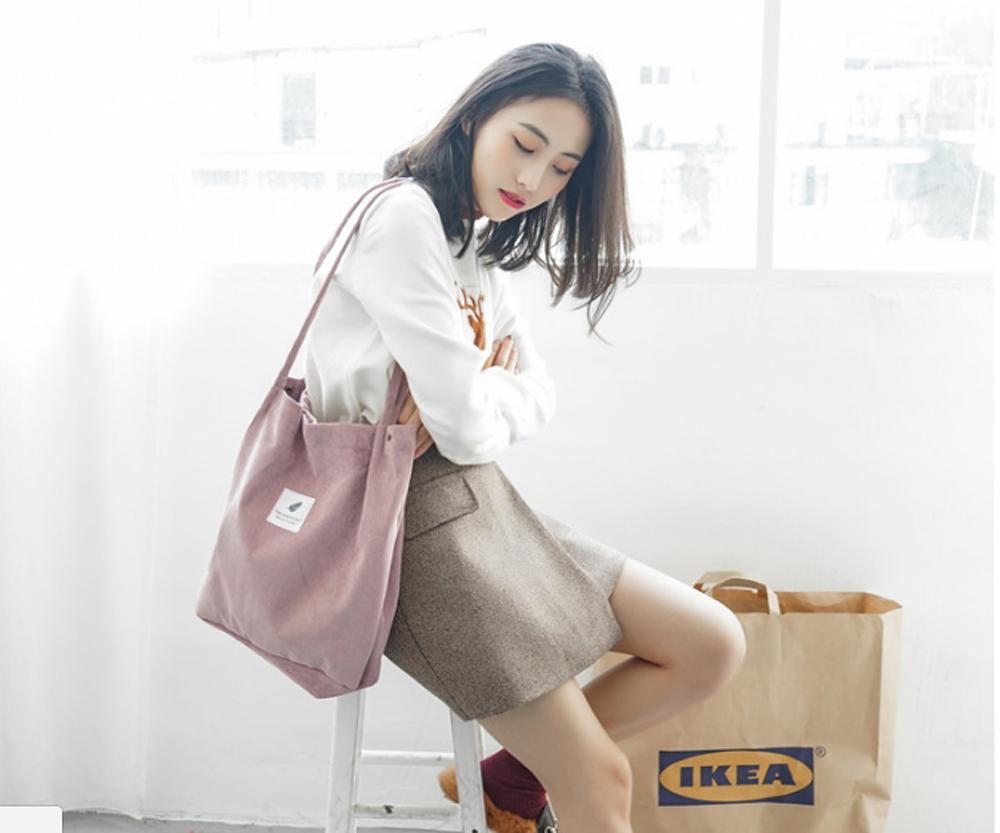 Túi vải nhung đeo chéo Hàn Quốc - HI&T 260