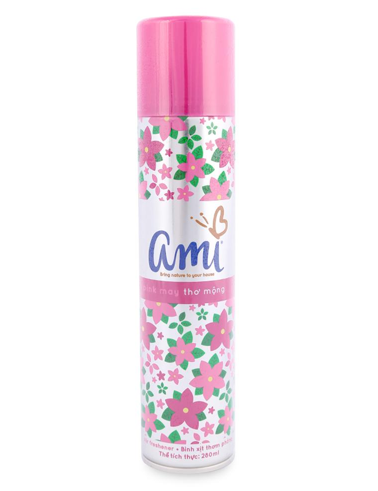 Bình Xịt Thơm Phòng Ami Pink May Chai 280ML