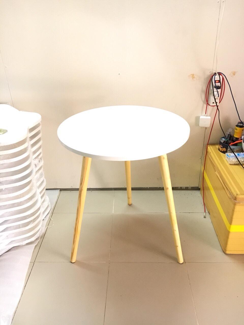 BCF - Bàn cafe tròn trắng 60x72, bàn cà phê, bàn trà