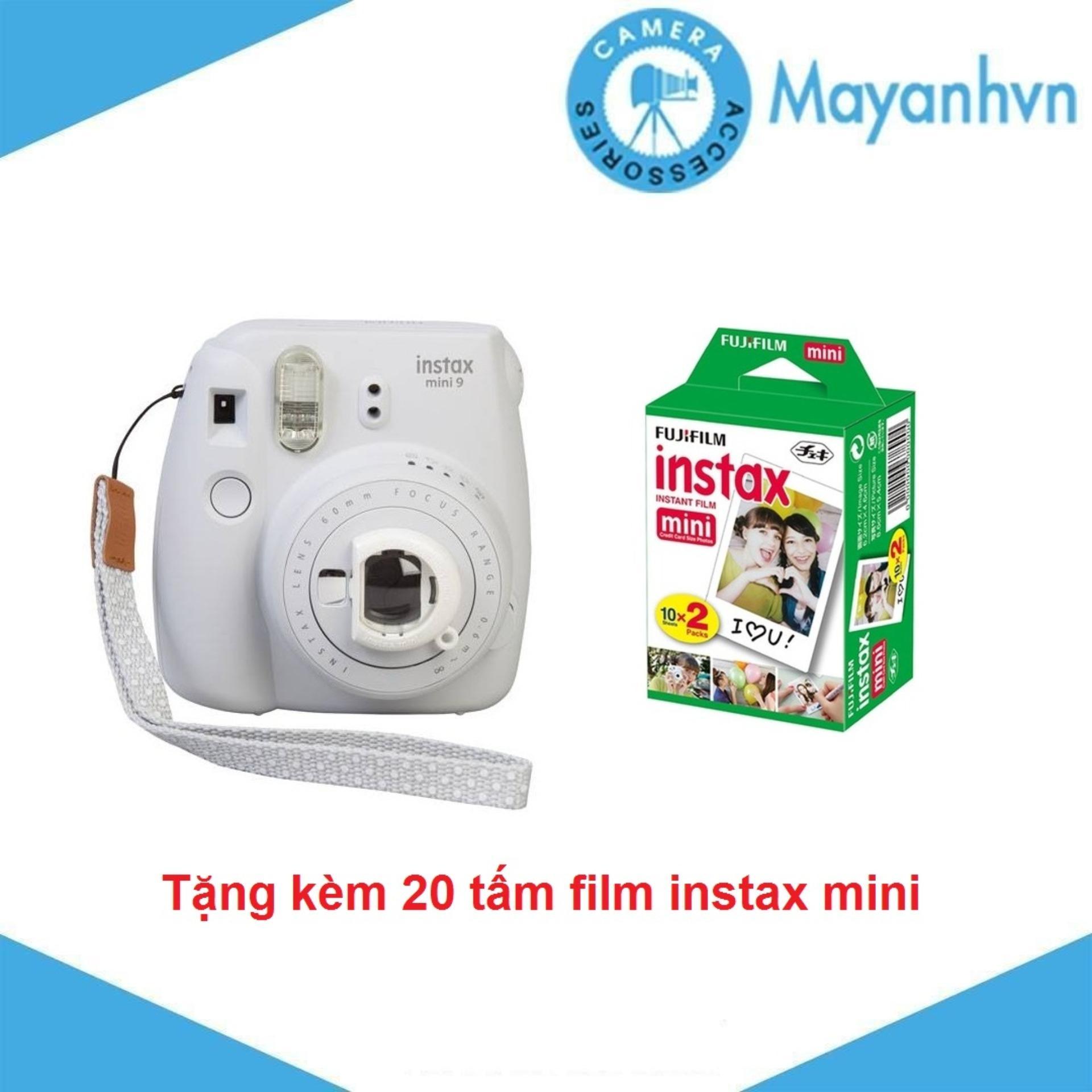 Máy chụp ảnh lấy ngay Fujifilm Instax mini 9 - Tặng kèm 2 hộp giấy in FujiFilm 10 tấm - Hãng phân phối chính thức.