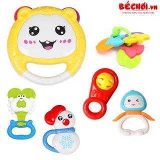 Xúc xắc cho bé, túi đồ chơi xúc xắc 7 món Toyshouse thumbnail