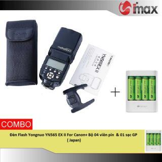 Đèn Flash Yongnuo YN565 EX II For Canon+ Bộ 04 viên pin & 01sạc GP( Japan) thumbnail