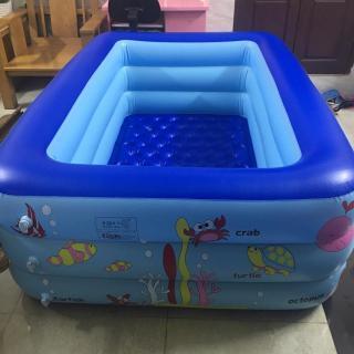Bể bơi bơm hơi cỡ lớn 2.1 M, Thiết kế 3 tầng chịu lực tốt- Thành cao chất liệu nhựa dày dặn đàn hồi tốt , Dễ dàng gấp gọn khi không sử dụng - Bể boi gia đình - Bể bơi phao 3 tầng thumbnail