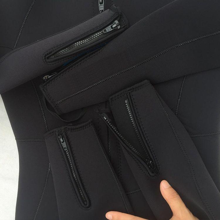 Bộ đồ lặn, quần áo lặn biển 3mm (BLACK) giữ ấm, thoáng khí, chống thầm nước cao cấp POPO Sports - 2