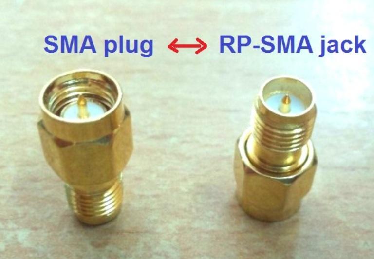 Đầu chuyển đổi Jack RP-SMA male sang SMA Plug cho Anten