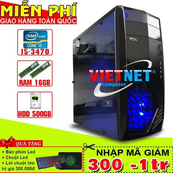 Máy tính Gaming Pro intel i5 3470 RAM 16GB HDD 500GB (VietNet)