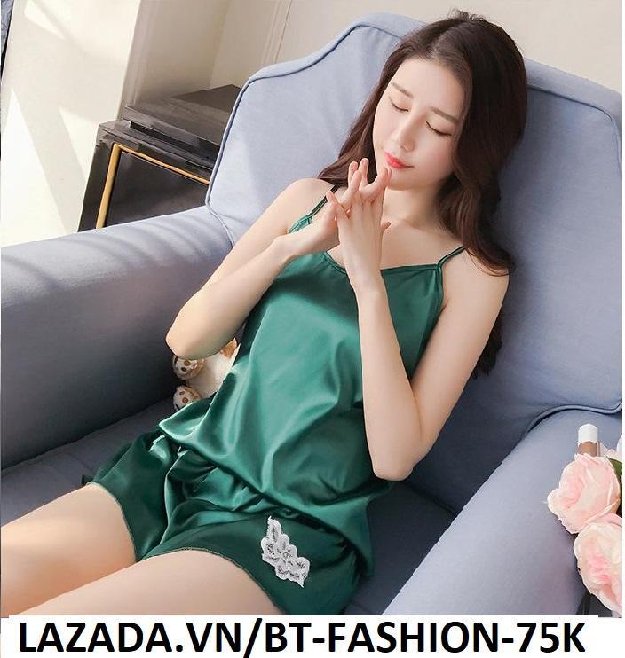 Đồ Bộ, Đồ Ngủ Mặc ở Nhà Thời Trang Mới - BT Fashion (ĐN-Ren Bông 03)