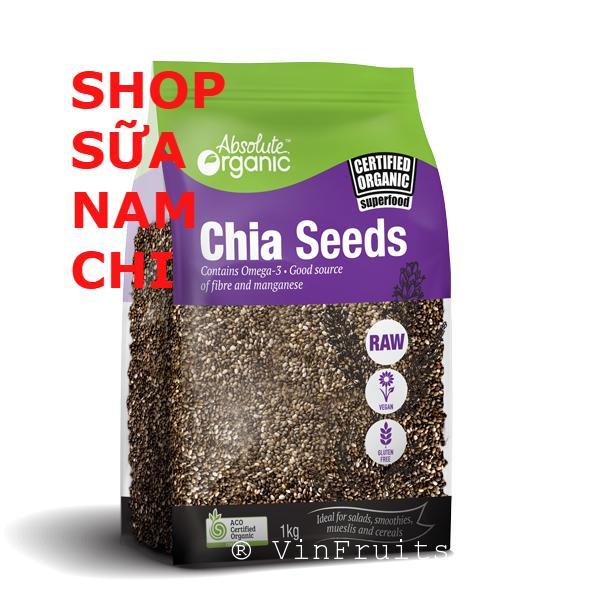Hạt Chia Absolute Organic Chia Seeds 1KG TÍM (Cam kết hàng Úc)