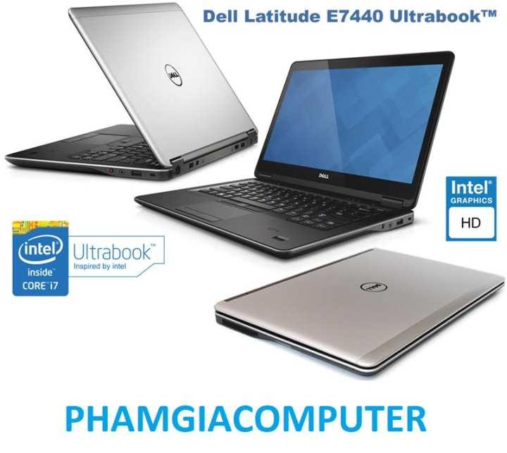 Laptop  Dell E7440 Core i7 4600U Ram 8G SSD 128G HDD 500G 14in Ultrabook 1.7kg- Hàng nhập khẩu -Tặng Balo, chuột wireless