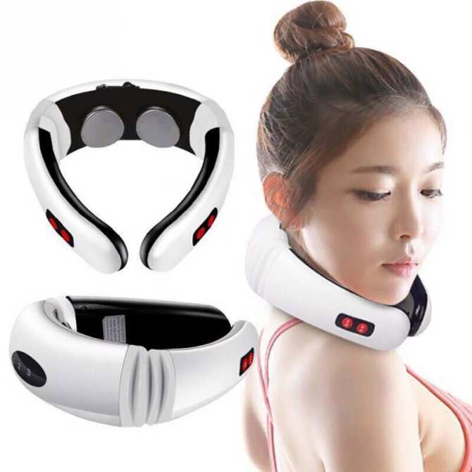 May matxa doctor ho - May massage xung dien 8 mieng dan - Máy massage cổ, vai, gáy Cervical SH-208- Dòng máy massage được ưa chuộng hiện nay- Giảm giá 50%