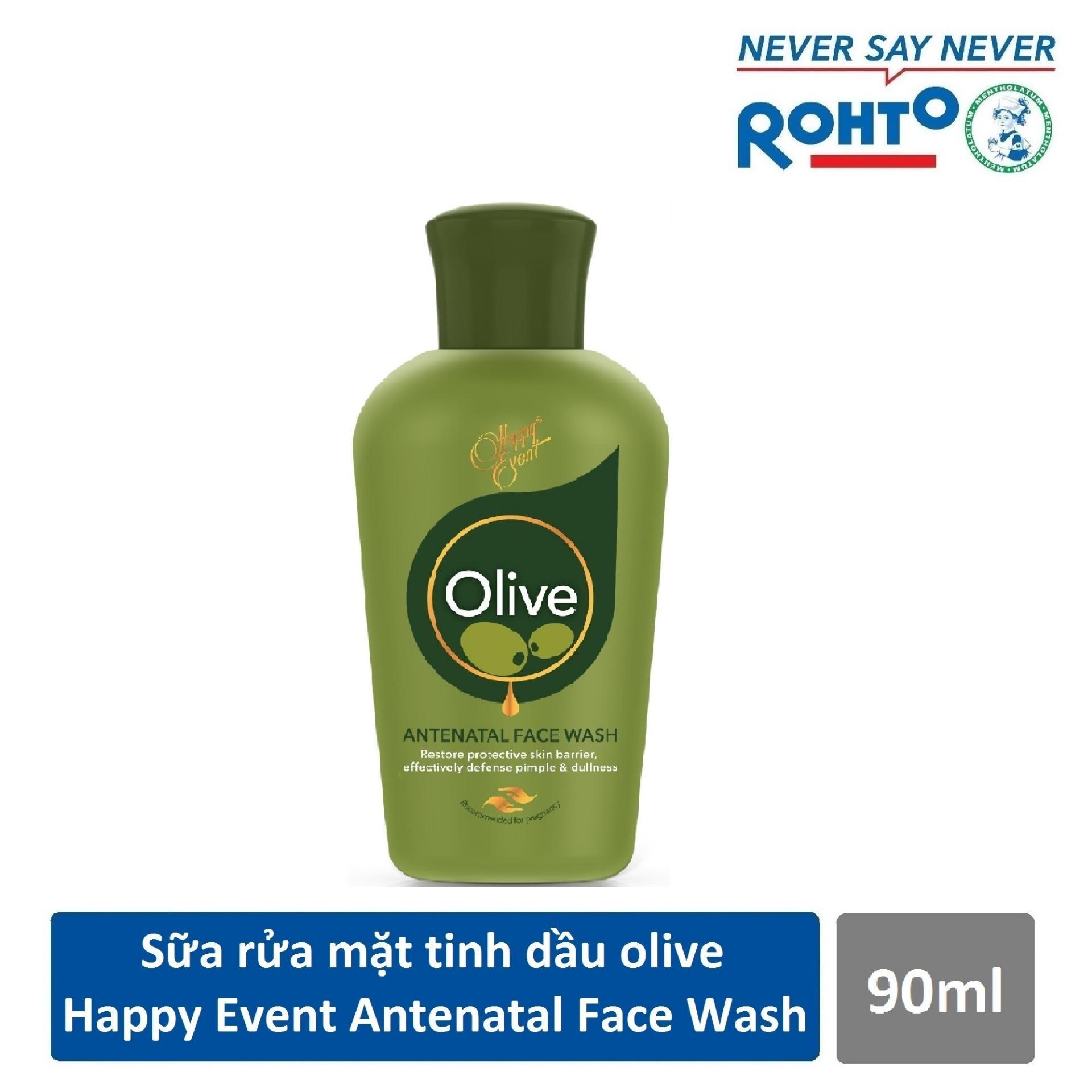 Sữa rửa mặt tinh dầu olive ngừa mụn Happy Event Antenatal Face Wash 90ml
