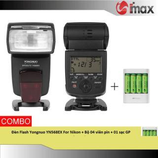 Đèn Flash Yongnuo YN568EX For Nikon + Bộ 04 viên pin & 01 sạc GP (Japan) thumbnail