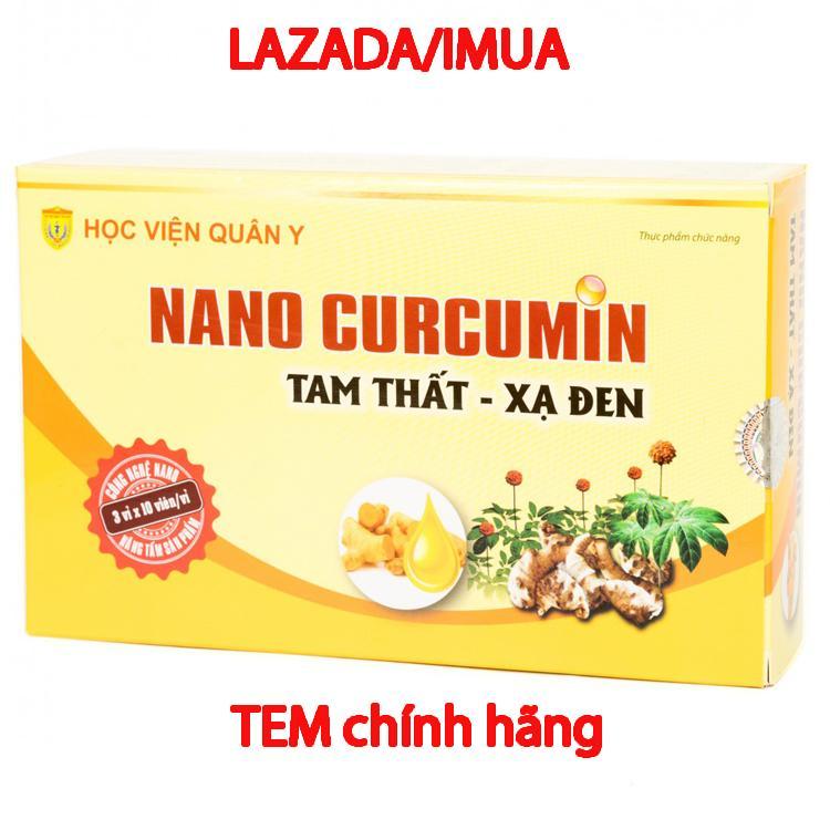 Viên uống Nano Curcumin Tam Thất Xạ Đen hỗ trợ điều trị đau dạ dày Học viện quân y (30 viên)