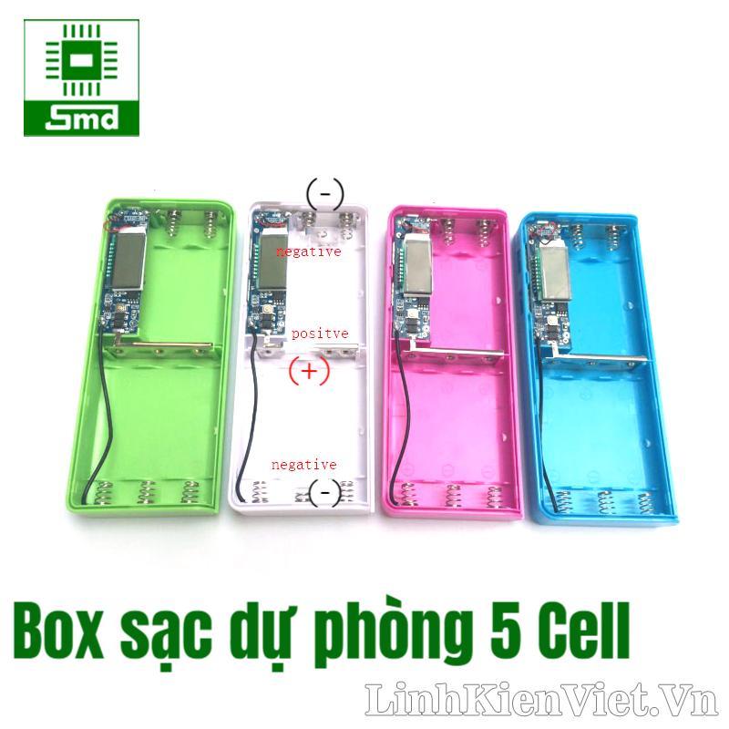Box sạc dự phòng 5 cell LCD V1