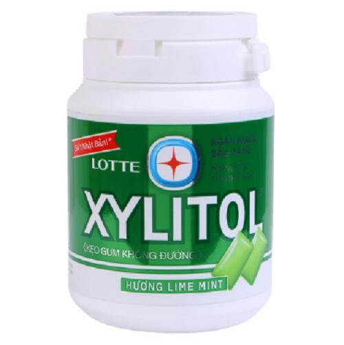 Kẹo cao su không đường Xylitol vị chanh, bạc hà 58g