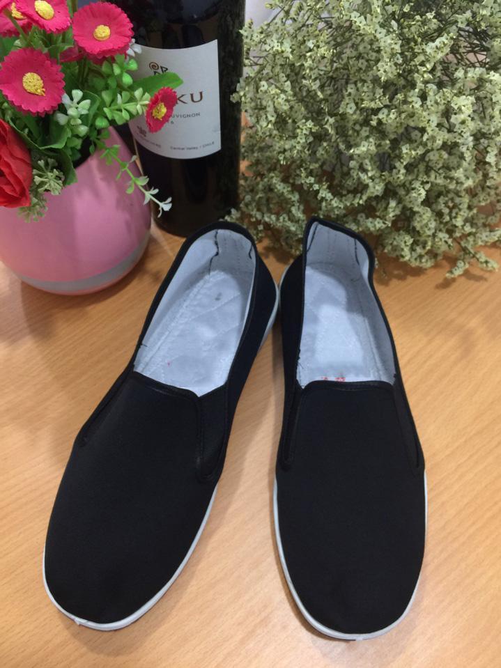 Giày lười nam vải đen Verygood GTTB12+ Tặng kèm 1 thẻ tích điểm Giá tốt 360