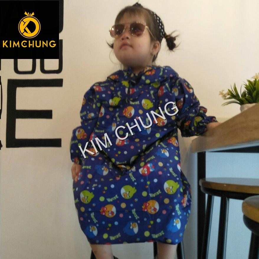 Áo mưa bít trẻ em vải dù cao cấp siêu chống thấm, bé từ 2-4 tuổi