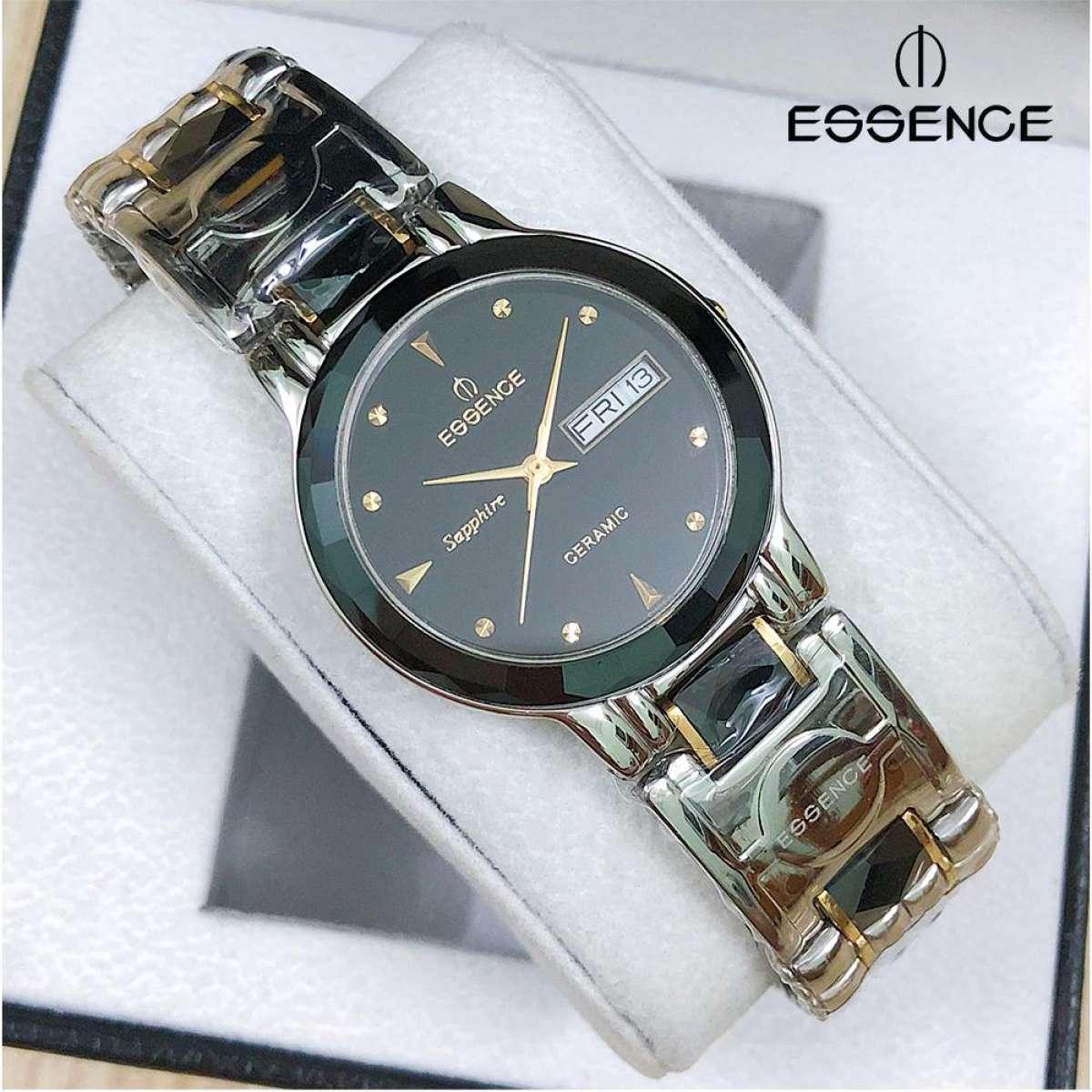 Nơi bán Đồng hồ nam dây thép không gỉ mặt kính sapphire chống xước Essence ES20702M (SB)