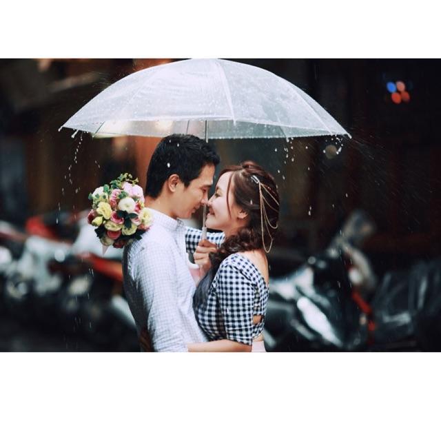Ô dù trong suốt phong cách Hàn Quốc