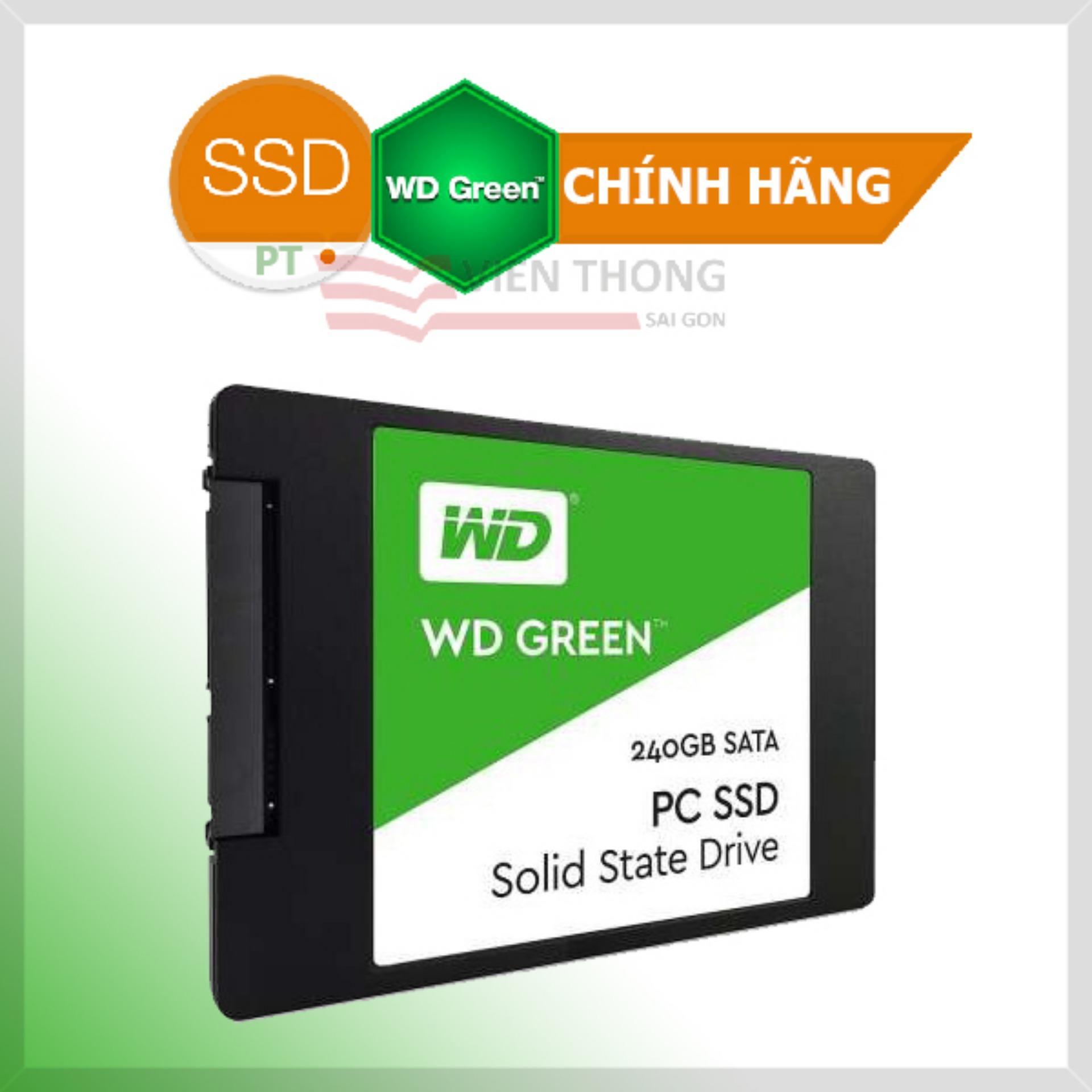 Ổ Cứng SSD WD Green 240GB 3D NAND - WDS240G2G0A - Hãng phân phối chính thức