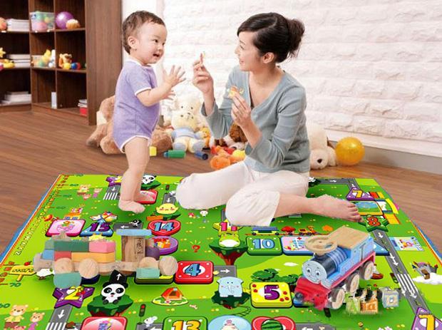 Thảm xốp 2 mặt cho bé Maboshi 200x180x0.5 cm (Nhiều màu)