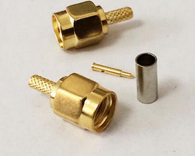 Đầu nối dây SMA thẳng đực ren trong dùng cáp RG174 RG178 RG316