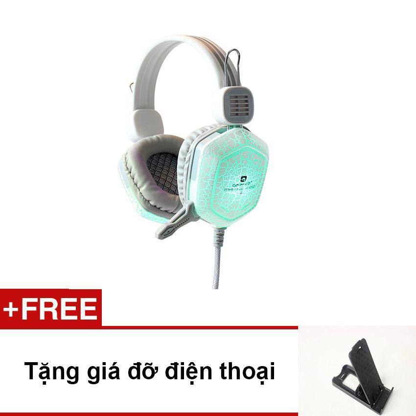 Tai nghe gaming Qinlian A7 Led (trắng)