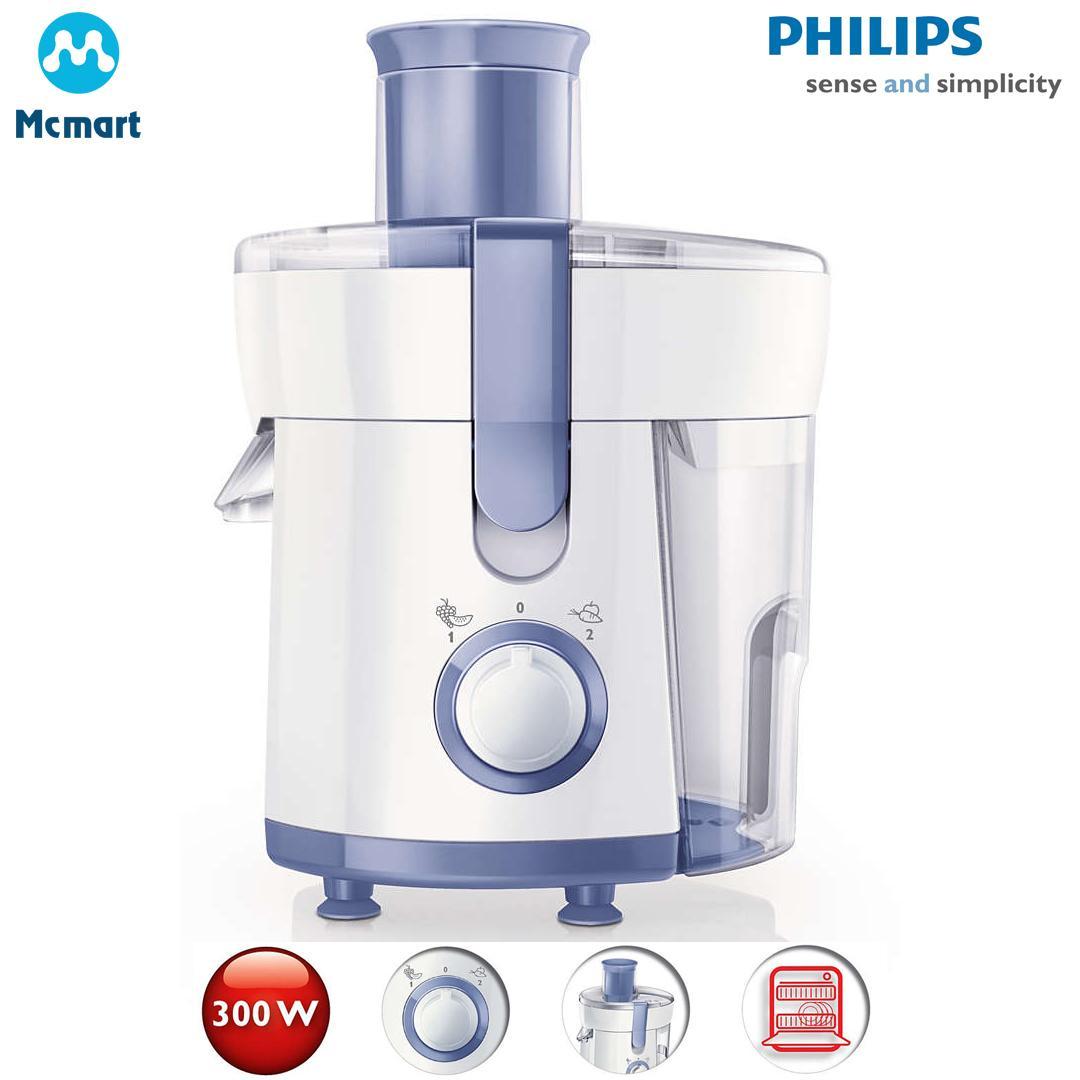 Máy ép trái cây Philips HR1811 500ml (Trắng) - Hàng nhập khẩu - Hàng nhập khẩu