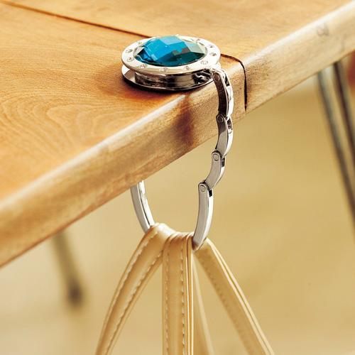 Móc treo túi xách, treo đồ tiện lợi trên mọi mặt phẳng hình tron kim cương