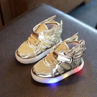 รองเท้าเด็กแบบเรืองแสง มีปีก สไตล์เกาหลี