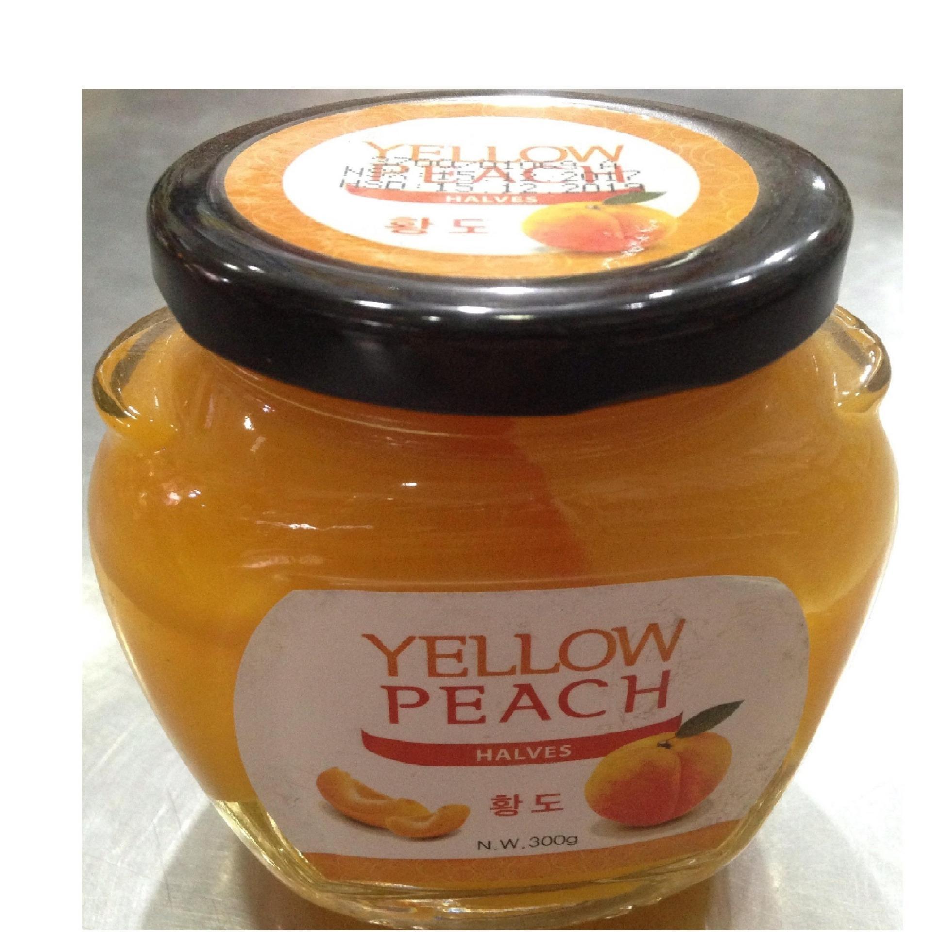 Đào ngâm hàn quốc Yellow peach slices 300gr chai thủy tinh 9x6x10 / lọ / Quả cắt miếng ngâm, hàng chuẩn, cực rẻ luôn, cucreluon