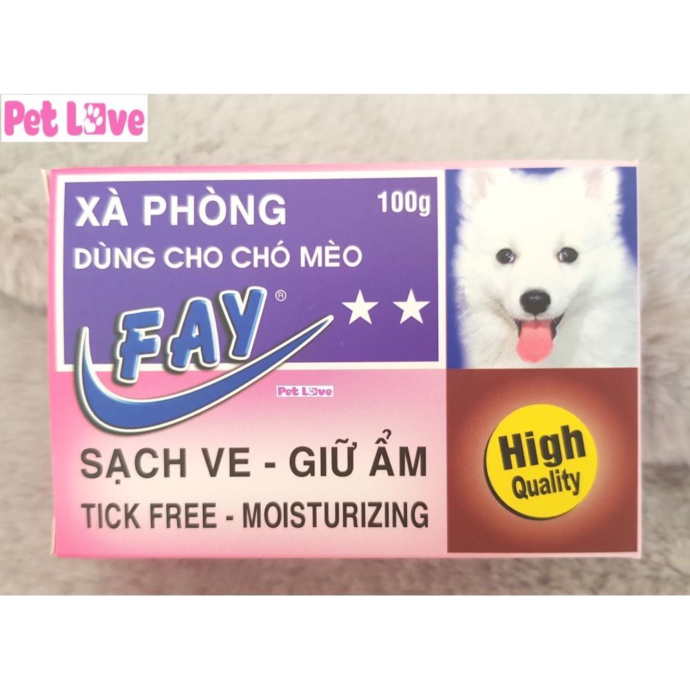 Xà bông Fay 2 sao tắm chó mèo sạch ve, giữ ẩm...