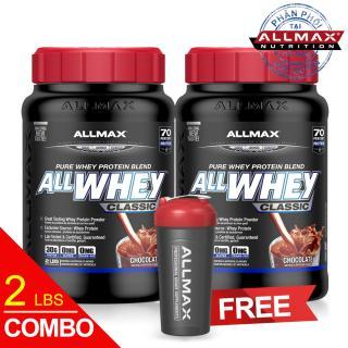 [THỰC PHẨM DINH DƯỠNG THỂ THAO] Combo 2 Hộp Whey Protein Tăng Cơ ALLMAX ALLWHEY CLASSIC CHOCOLATE 2LBS thumbnail