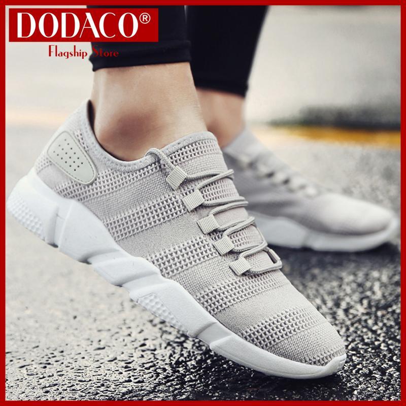 Giày sneaker nam DODACO DDC3219 Giày thể thao đẹp giá rẻ mẫu mới hot trends 2019 màu đen xám trắng giầy giay the thao dep gia re mau moi mau den xam trang