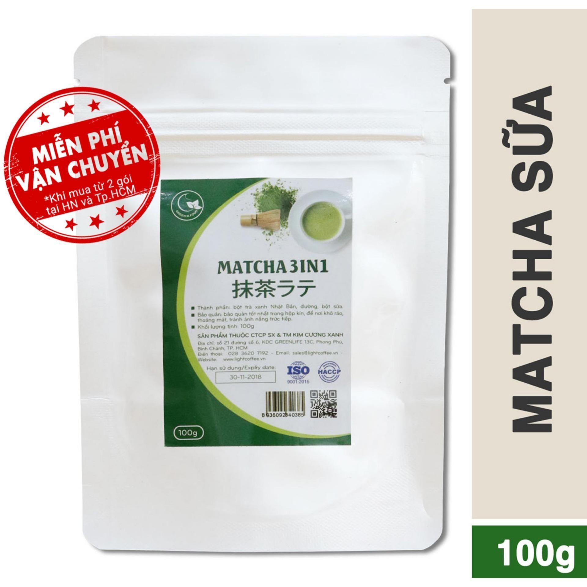 Bột trà xanh 3in1 (trà xanh sữa) - GreenD Food...