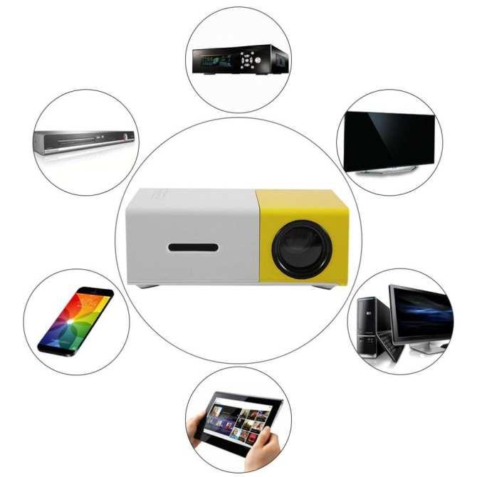 May chieu di dong gia re-May chieu hd mini-Galaxy K-Máy chiếu màn hình LCD TFT HD1080 YG300 MINI LED nhỏ gọn tiện lợi