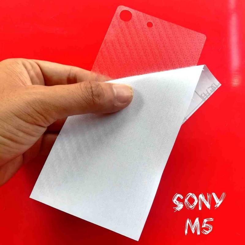 Miếng Decal Dán Lưng Sony M5 Nhám Trong Carbon