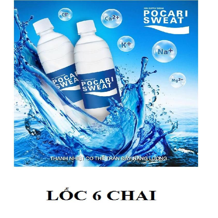 Lốc 6 chai nước bù ion pocari sweat 350ml 13x19.5x17 / lốc6 / lỏng, hàng chuẩn, cực rẻ luôn, cucreluon